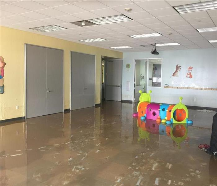 Hurricane Harvey Flood Damage in Commercial Building Before