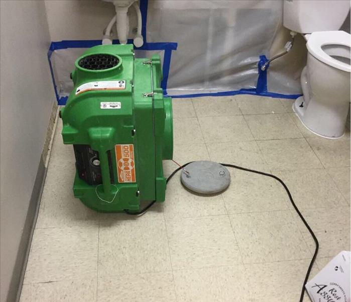 Mold Remediation in a Commercial Business in Watauga, Texas Before