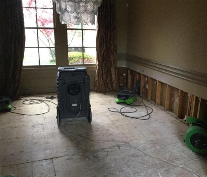 Water Damage in a Vacant Home in Keller, Texas After