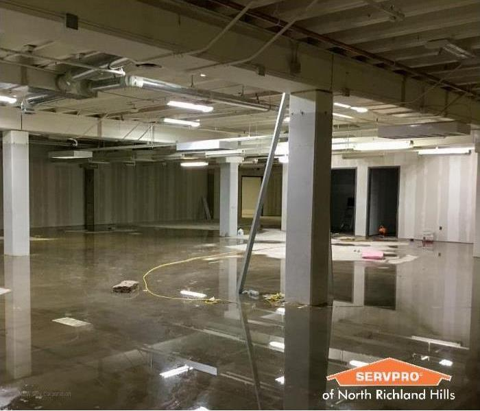 commercial property with a flooded floor