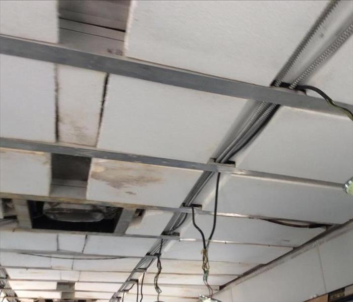 Water Damage In Commercial Ceiling