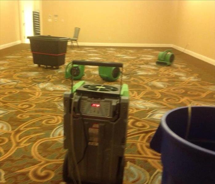 Water Loss Damage at a luxurious Downtown Fort Worth Hotel