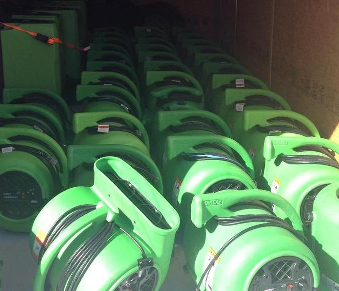 SERVPRO Air movers