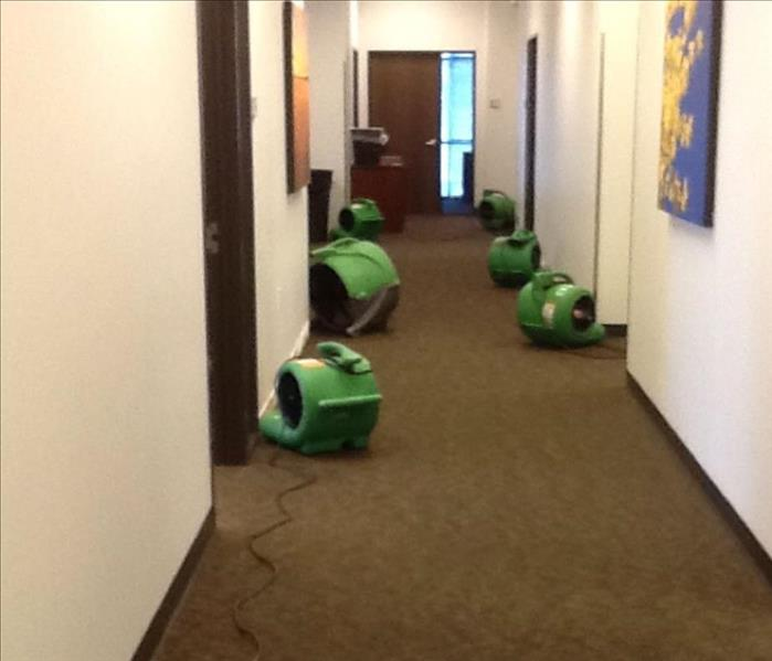 Water Damage at a Downtown Fort Worth Business